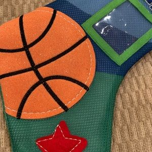 Holiday - NEW!! 2 Christmas Stockings! Football & Basketball